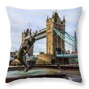 Fountain And Bridge Throw Pillow