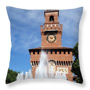 Fountain And Castle Throw Pillow