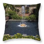 Fountain And Peppers Throw Pillow
