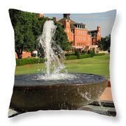Fountain And Union Throw Pillow by Meandering Photography