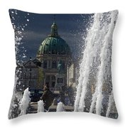 Fountain At Amalie Garden Next Throw Pillow