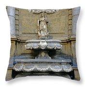 Fountain At Quattro Canti In Palermo Sicily Throw Pillow