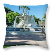 Fountain At Rio Vista Throw Pillow