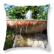 Fountain At Taliesen Throw Pillow
