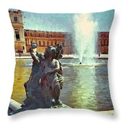 Fountain At Versailles Throw Pillow