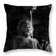 Fountain Child Throw Pillow