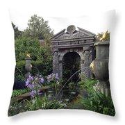Fountain Garden Throw Pillow