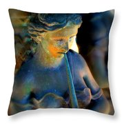 Fountain Girl Throw Pillow