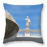 Fountain In The Piazza Throw Pillow