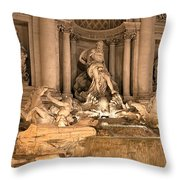 Fountain Lights Throw Pillow
