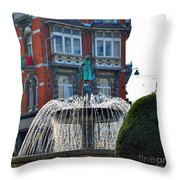 Fountain Of Brussels Throw Pillow