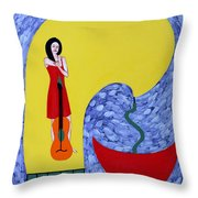 Fountain Of Creativity Throw Pillow