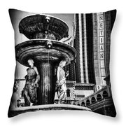 Fountain Of Wealth Throw Pillow