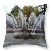 Fountain On The Grounds Of The Peterhof Grand Palace Throw Pillow