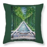 Fountain  Palma De Mallorca Capital  Throw Pillow