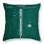 Fountain Pen Patent Drawing 1a Throw Pillow