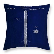 Fountain Pen Patent Drawing  Throw Pillow