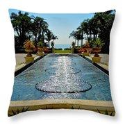 Fountain Pool Throw Pillow
