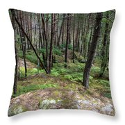 Fountainbleau Forest Throw Pillow