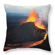 Fountaining Action Throw Pillow