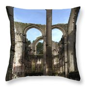 Fountains Abbey 4 Throw Pillow