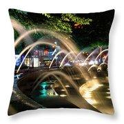 Fountains At Columbus Circle Throw Pillow