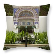 Fountains At The Getty Villa Throw Pillow