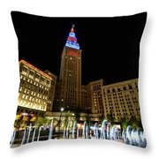 Fountains At The Tower Throw Pillow
