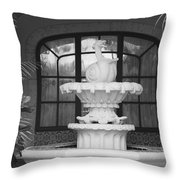 Fountian And Window Throw Pillow