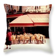 Fouquets Of Paris 1955 Throw Pillow