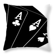 Four Aces II Throw Pillow by Tom Mc Nemar