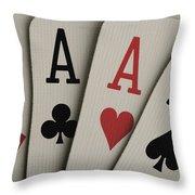Four Aces Studio Throw Pillow