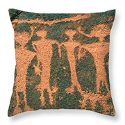 Four Anasazi Throw Pillow