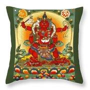 Four Armed Dzambhala Throw Pillow