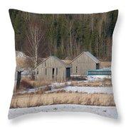 Four Barns Throw Pillow