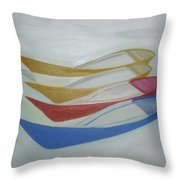 Four Boats And A White One Throw Pillow