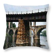 Four Bridges Of East Falls Throw Pillow