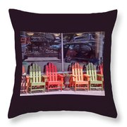 Four Chairs Throw Pillow