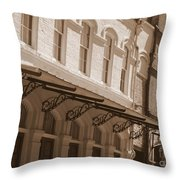 Four Corners In New Orleans Throw Pillow