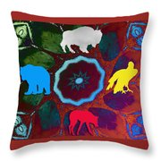 Four Directions   -009 Throw Pillow