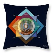 Four Elements, Ages, Humors, Seasons Throw Pillow
