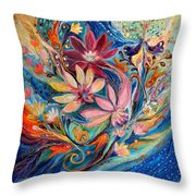 Four Elements IIi. Water Throw Pillow