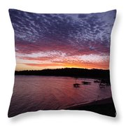 Four Elements Sunset Sequence 1 Coconuts Qld  Throw Pillow