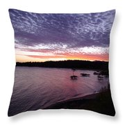 Four Elements Sunset Sequence 6 Coconuts Qld  Throw Pillow