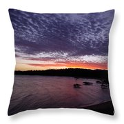 Four Elements Sunset Sequence 7 Coconuts Qld  Throw Pillow