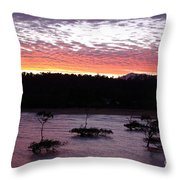 Four Elements Sunset Sequence 8 Coconuts Qld  Throw Pillow
