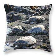 Four Endangered Greenies Throw Pillow