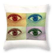 Four Eyes In Pop Art Throw Pillow