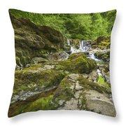 Four Falls Walk Waterfall 3 Throw Pillow