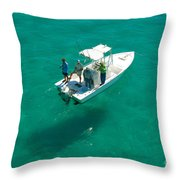 Four Fishermen Throw Pillow